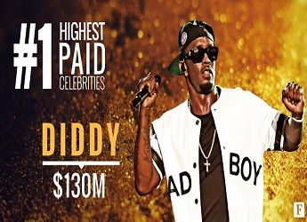 Diddy Tops Forbes' 2017 Celebrity 100 List
