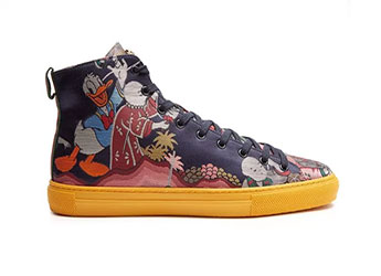 Gucci High Top Trainer 'Donald Duck'