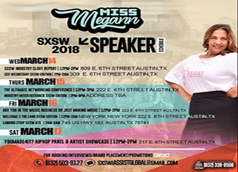 Houston's Top Consultant Miss Megann Is An Official Keynote Speaker At SXSW