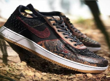 """Nike Air Force 1 Low """"Samurai"""" Custom is the Definition of Luxury"""